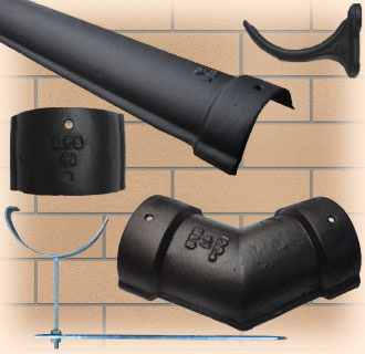 115mm Half-Round Cast Iron guttering