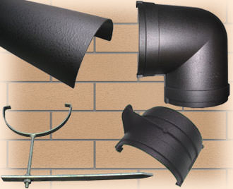 160mm Industrial Cast Iron Gutters
